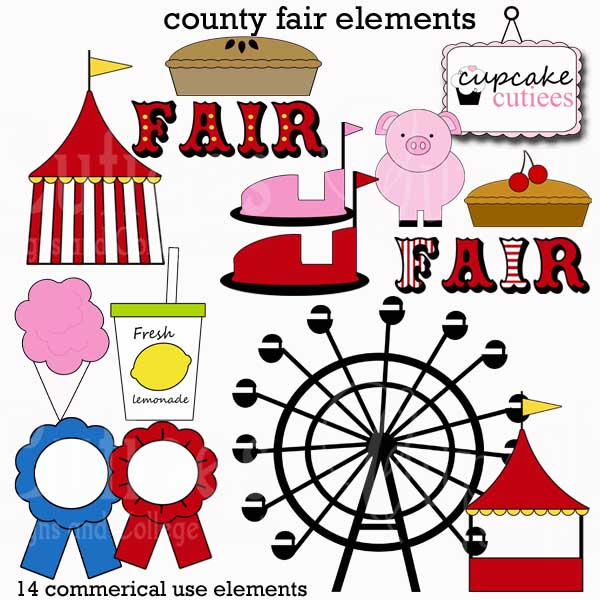 Adorable County Fair Clip Art  These Also Work Great With A Carnival