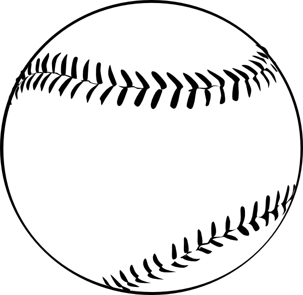 Baseball  B And W  Clip Art At Clker Com   Vector Clip Art Online