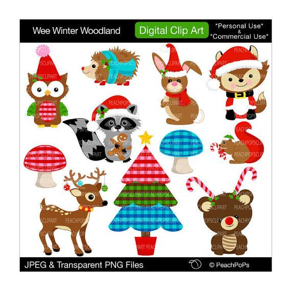 Christmas Fox Clipart - Clipart Kid