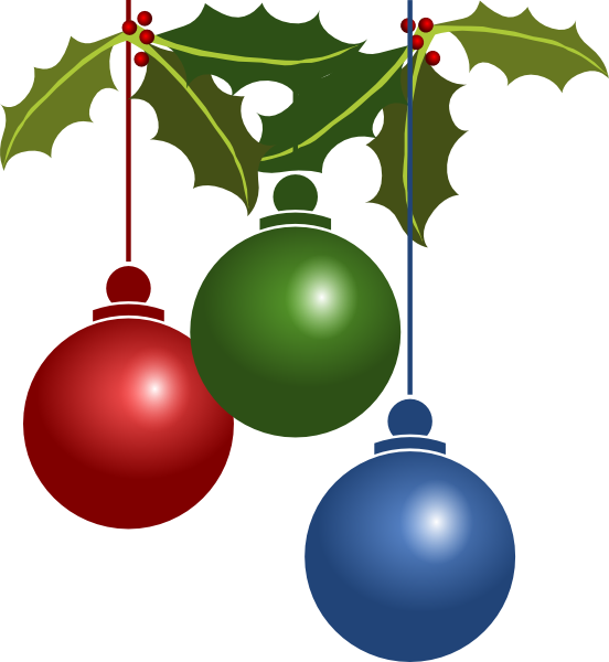 Holiday Decorations Clip Art