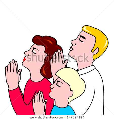 Family Prayer Images Stock Vector Family Prayer 147594194 Jpg