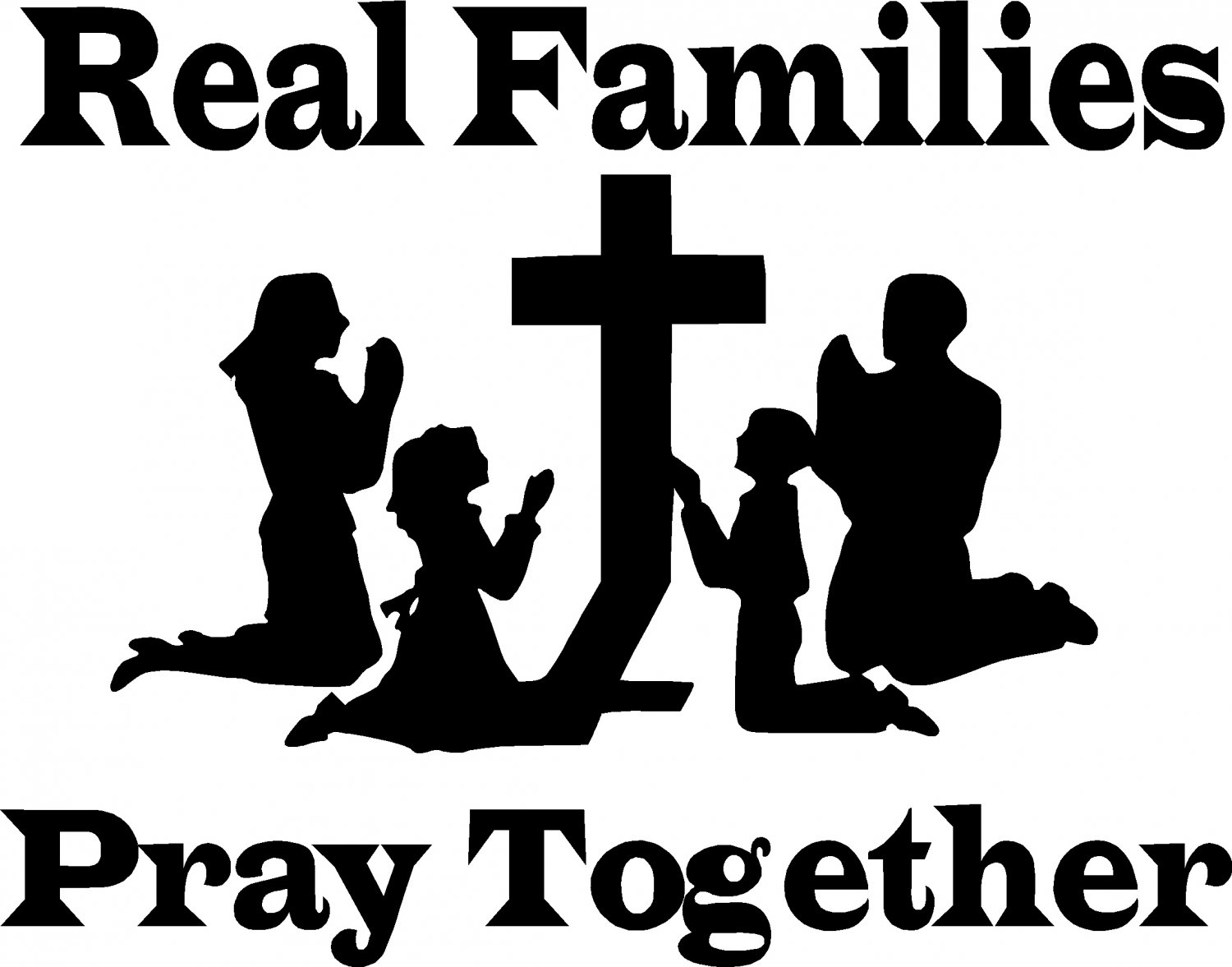 Family Praying Clipart Family Praying Together Clip