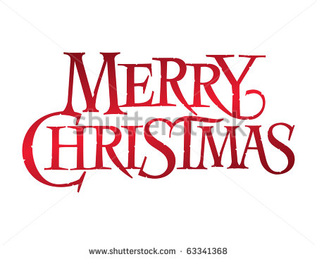 Fancy Merry Christmas Clip Art Words Series  Merry Christmas
