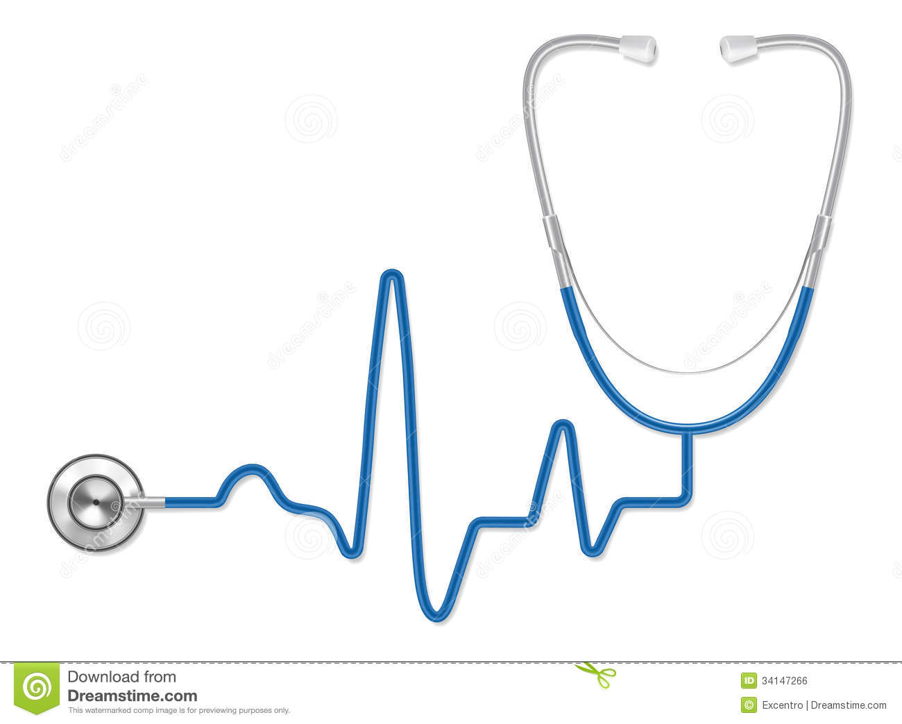 Free Clipart Sound Of A Heart Beating Stethoscope Heart Beat Image