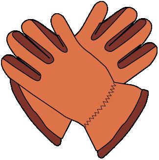 Free Pair Of Brown Gloves Clip Art