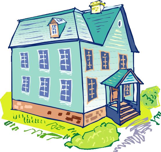 clip art blue house - photo #42