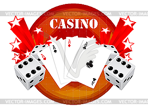 Gambling Design With Casino Elements   Vector Clip Art