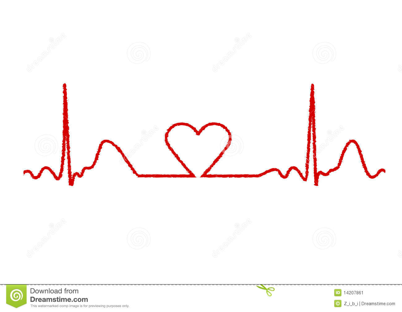 Clip Art Heart Beat Li...