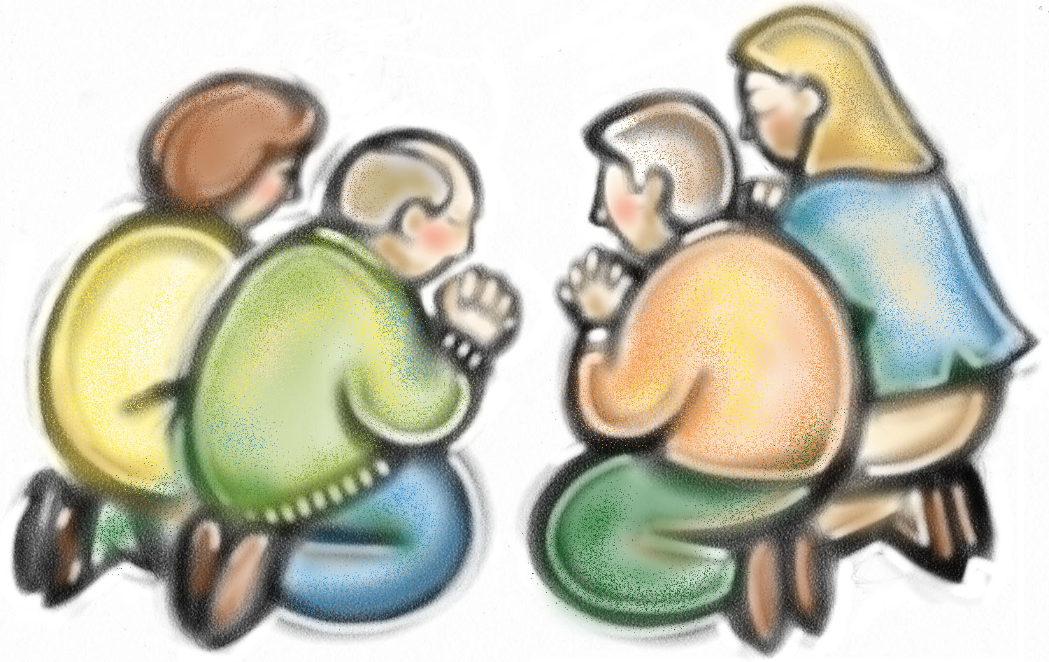 Images For   Family Praying Clipart