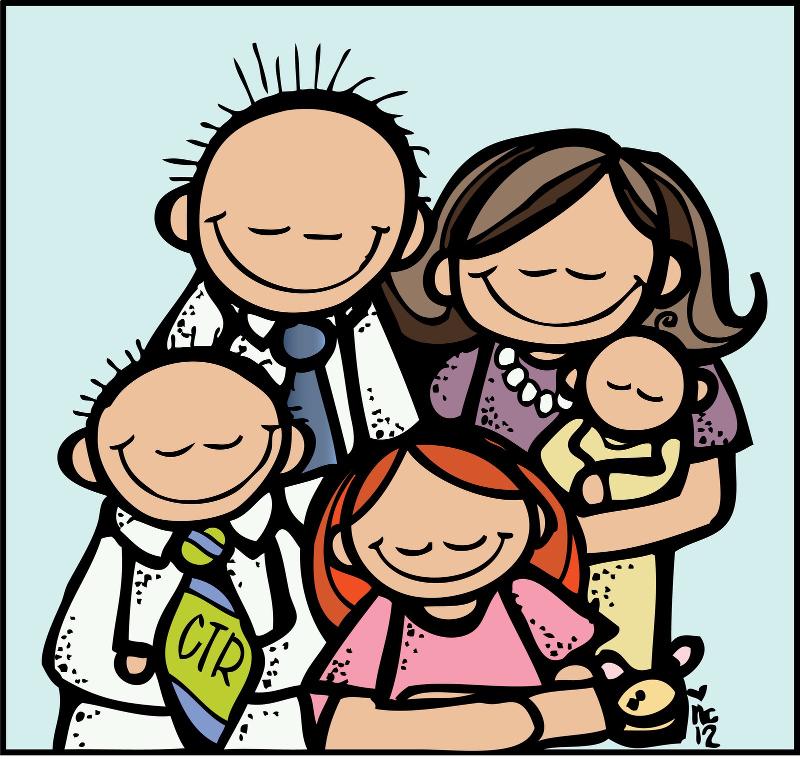 Lds Family Clipart Melonheadz Lds Illustrating