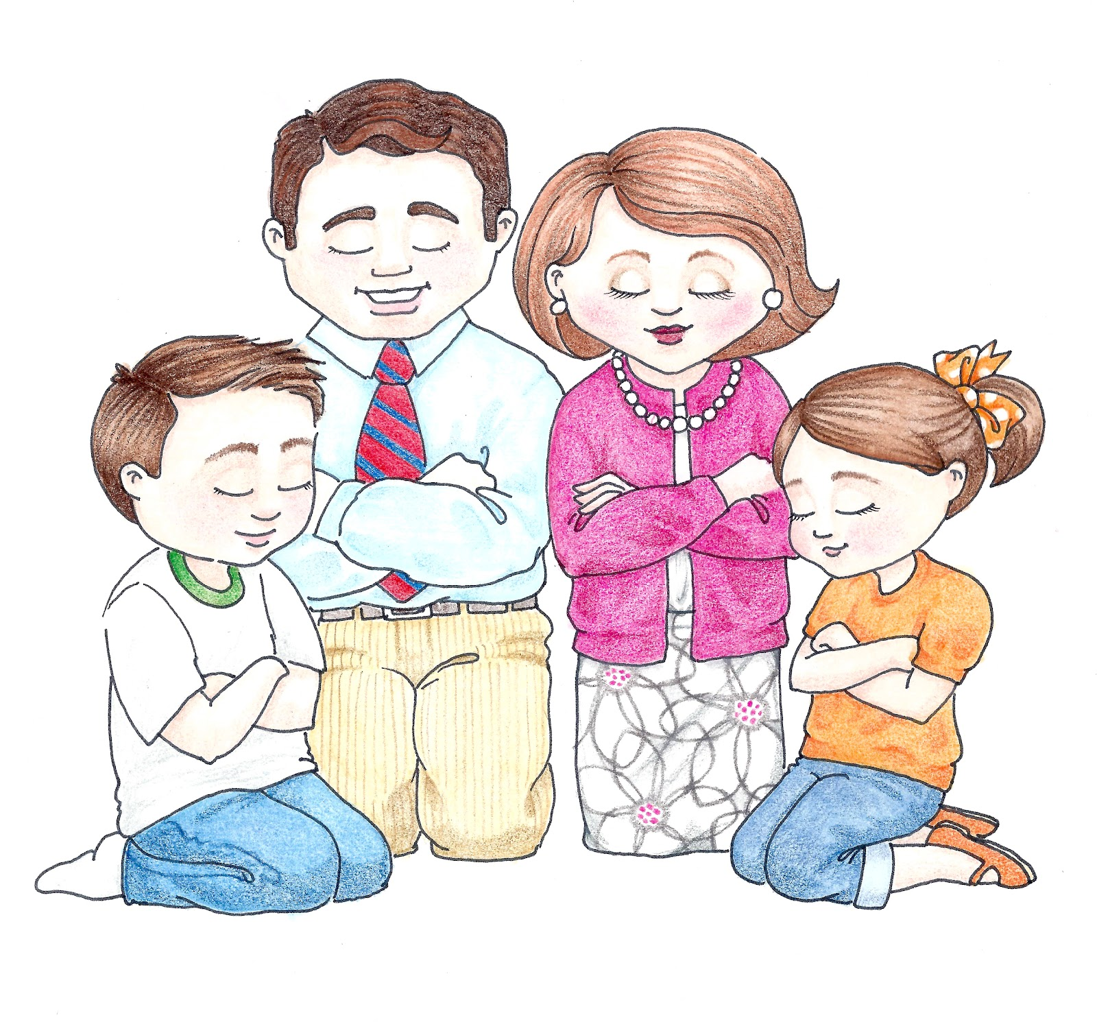 Family Praying Clipart - Clipart Kid