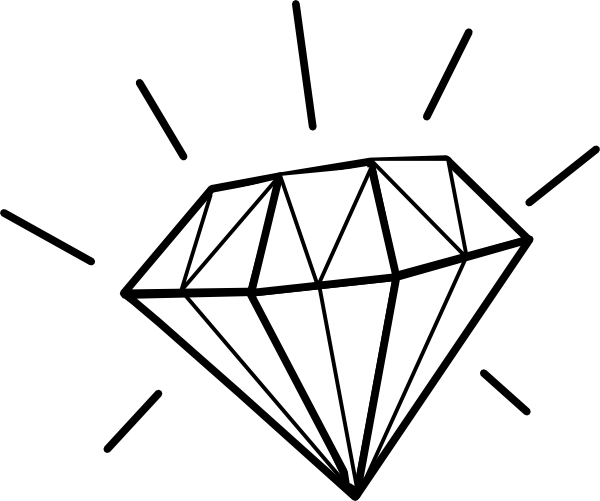 White Diamond Clip Art At Clker Com   Vector Clip Art Online Royalty