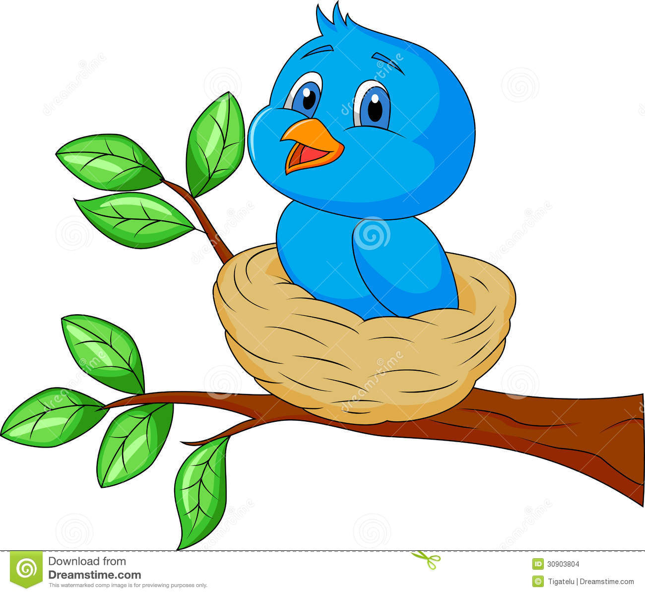 Blue Baby Bird Clipart - Clipart Suggest
