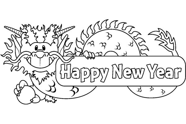 Gallery For gt Chinese New Year Black And White Clip Art