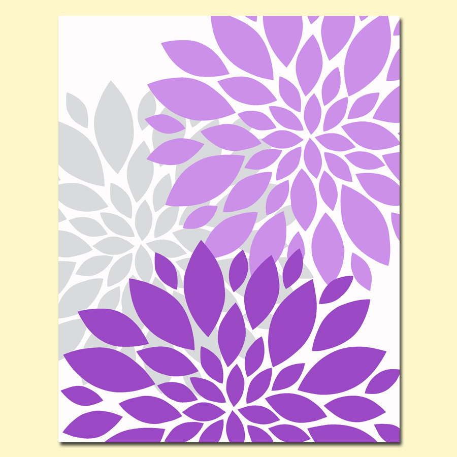 Blue Flower Burst Purple Gray Bursts Clipart