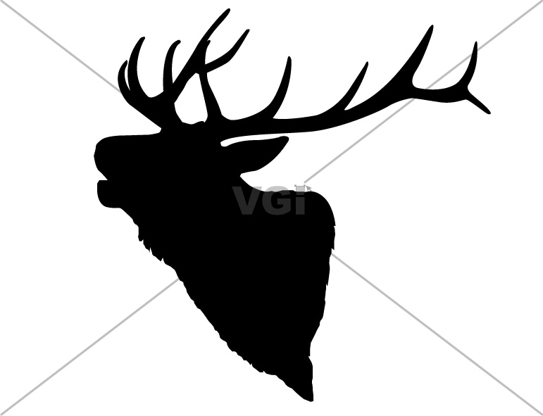 Elk Black And White Clipart - Clipart Suggest