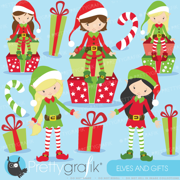 Christmas Elves Clipart Christmas Elves Clipart     0 99