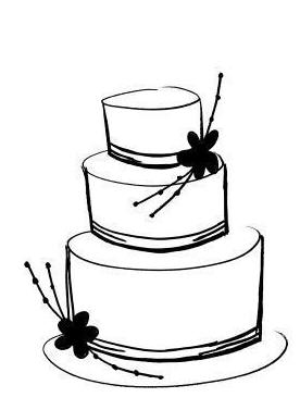 Cake Drawing Tiered