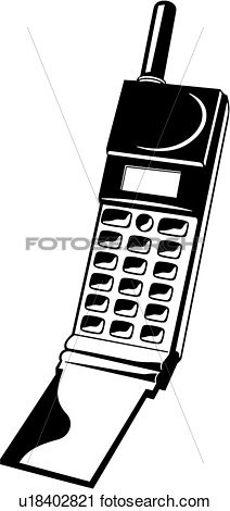 Clipart    Cell Phone Cellular Equipment Office   Fotosearch