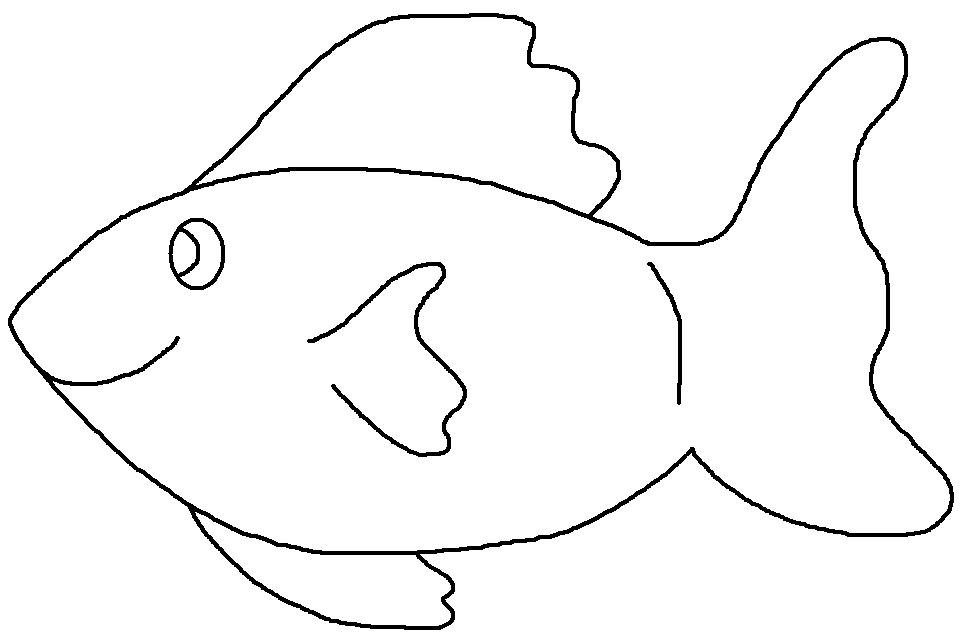 Clipart Fish Black And White