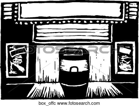 Clipart Of Box Office Box Offc   Search Clip Art Illustration Murals
