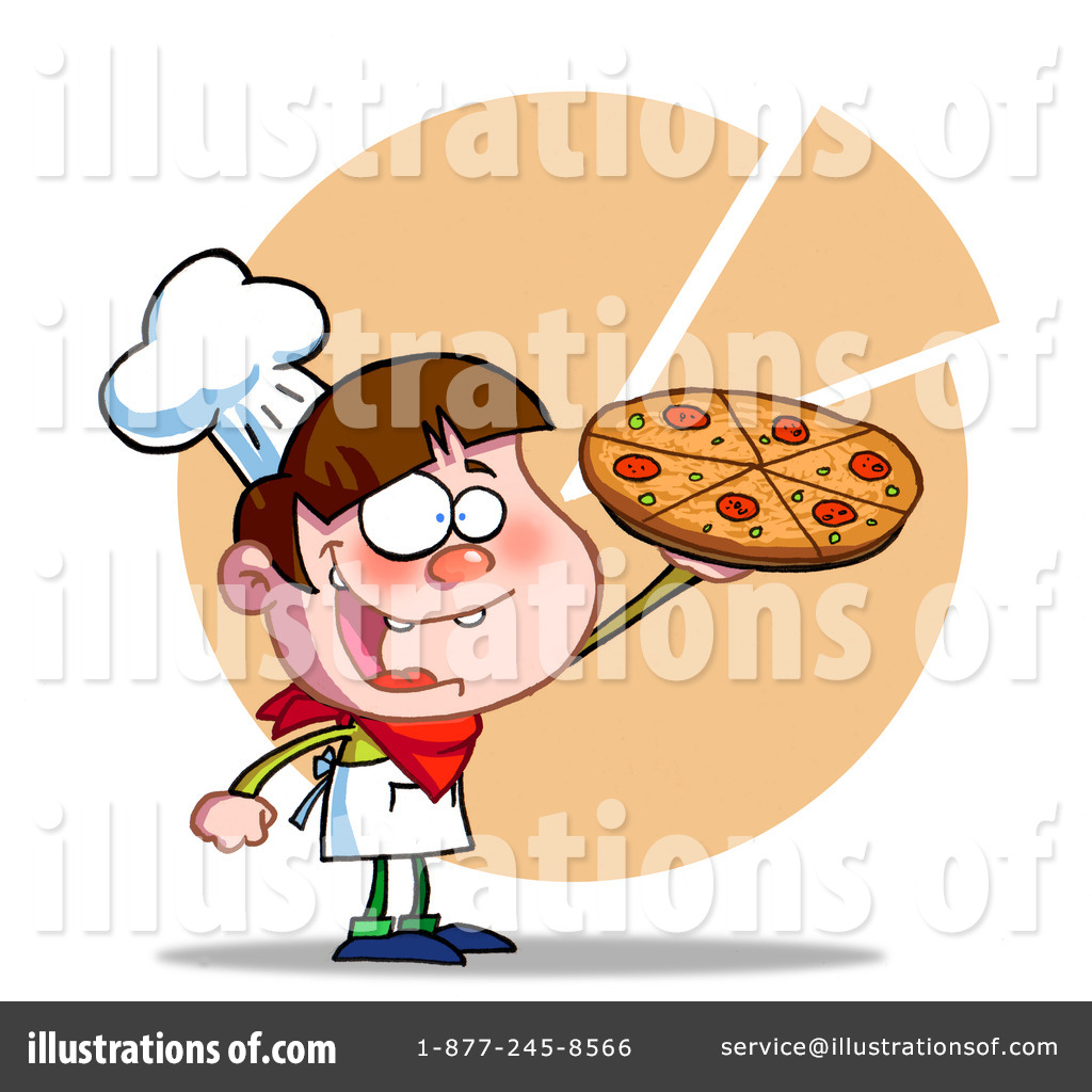 Cuisine Vector Clipart Pizza Boy Menu Border Hit Toon