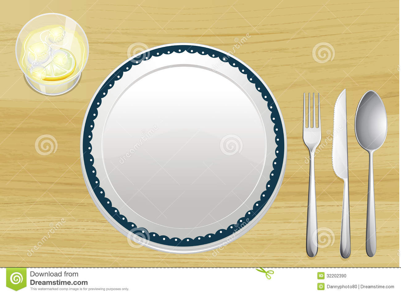 Dinner Plate Clipart Empty Plate And A Bowl Of