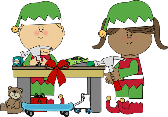 Christmas Toys Cartoon : Christmas cartoon santa s workshop clipart suggest