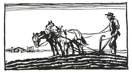 Farmer With Plough Horses   Http   Www Wpclipart Com Working