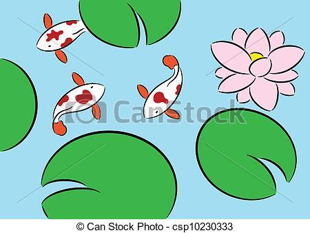 Koi Pond Clipart - Clipart Suggest