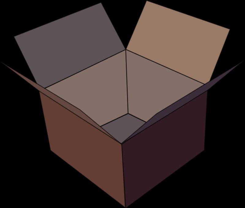 Free Empty Brown Box Clip Art