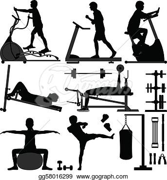 Gymnasium Workout Exercise Man  Vector Clipart Gg58016299   Gograph