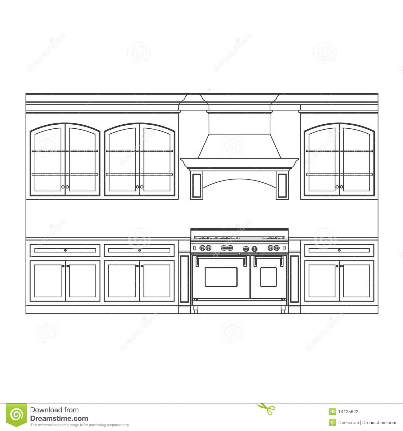 Kitchen Cabinet Drawings: White Kitchen Cupboards Clip Art Free
