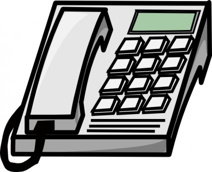 Office Phone Clip Art Free Vector In Open Office Drawing Svg    Svg