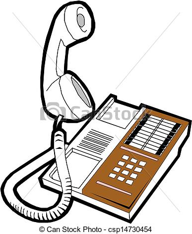 Office Phone Clipart Can Stock Photo Csp14730454 Jpg