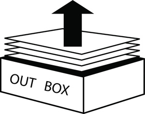 Out Box Clip Art Images Out Box Stock Photos   Clipart Out Box