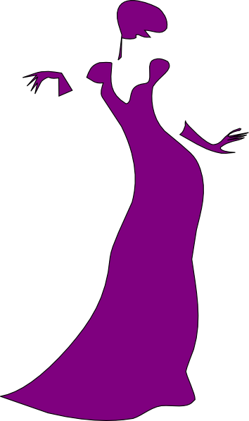 Purple Dancing Woman Clip Art