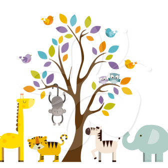 Clip Art Safari Clip Art safari animal clipart kid tree clip art set
