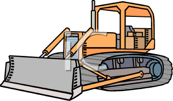 Snow Plow Illustration   Royalty Free Clip Art Illustration