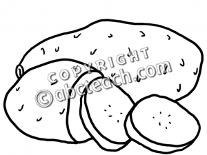 Sweet Potato Clipart Black And White
