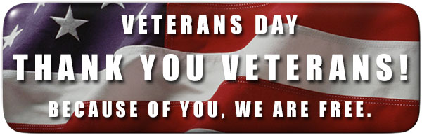 Thank You Veterans Because Of You We Are Free