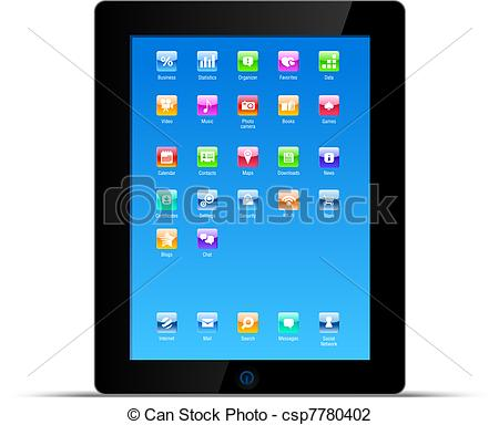 Vector Illustration Of Touch Pad Tablet Pc Vector Concept   Desktop Of