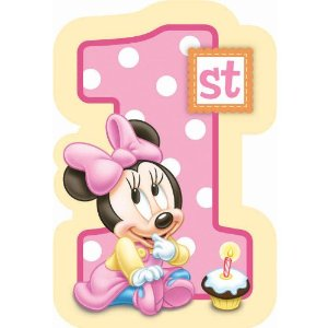 Baby Minnie Mouse 1st Birthday Invitations 8 Count Disney Check Price