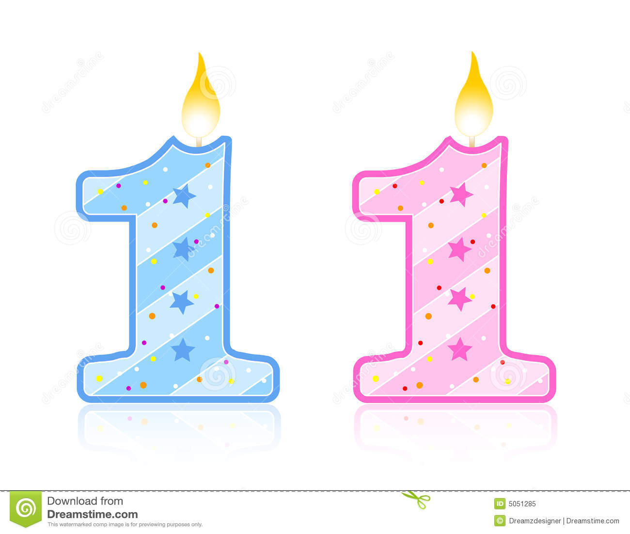 Birthday Candle   1 Royalty Free Stock Photo   Image  5051285