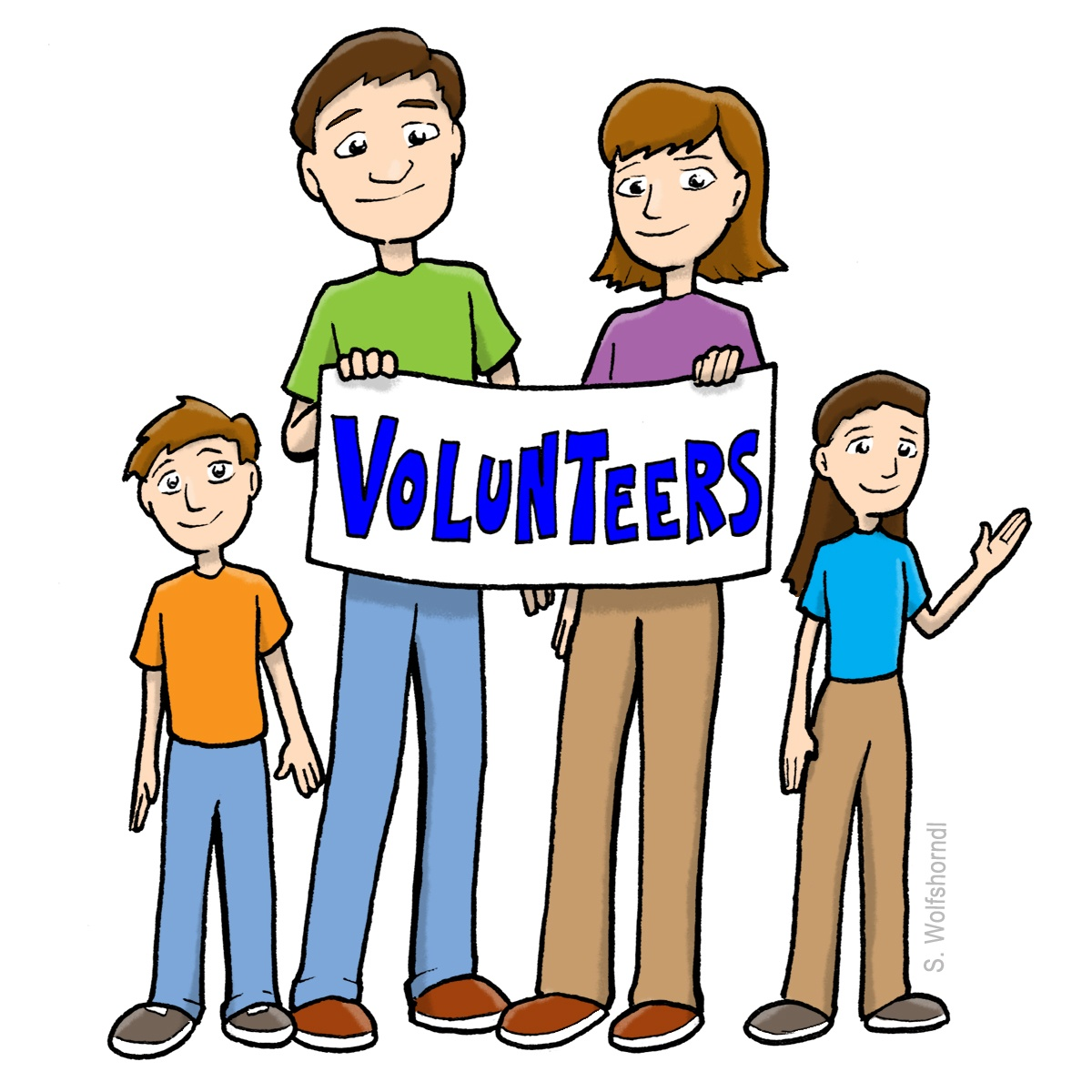 Clip Art Of Volunteers