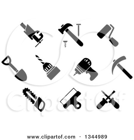 screwdriver black and white clipart clipart kid