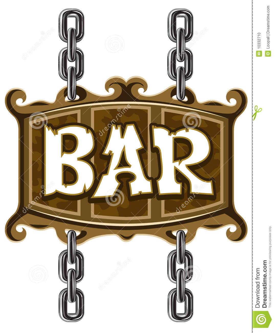Inn Clipart Wooden Sign For Beer Pub Or