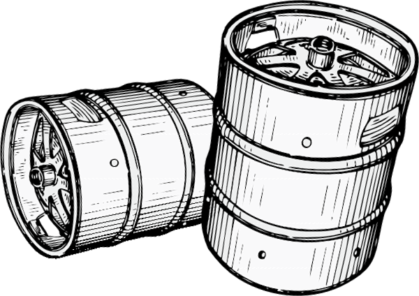 Beer Keg Black And White Clipart - Clipart Suggest