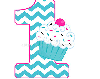 Pink And Turquoise Chevron Cupcake 1st Birthday Personalized T Shirt