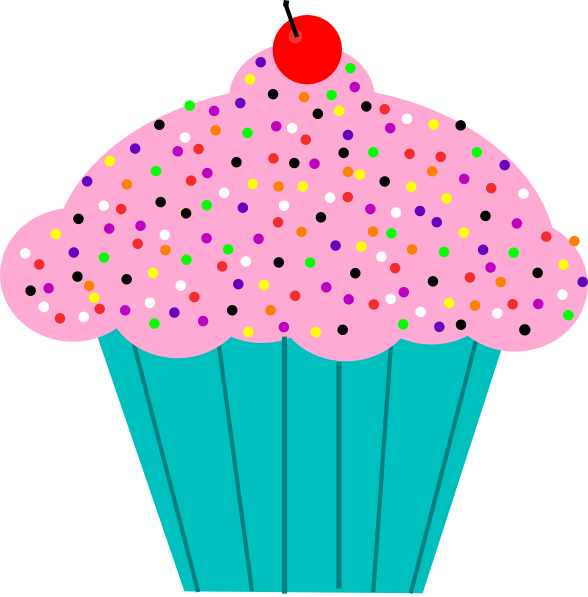 Pink Frosted Cupcake Clip Art At Clker Com   Vector Clip Art Online